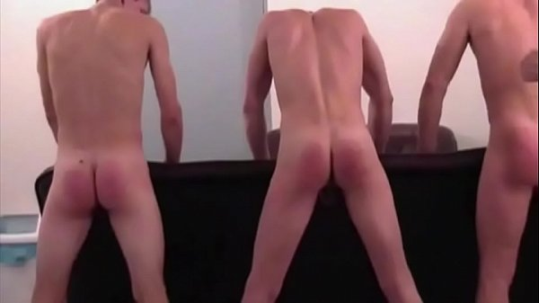 Spanking three boys hard