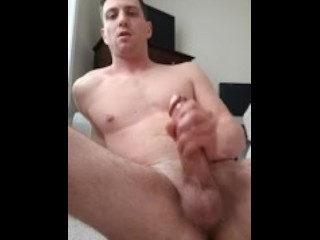 David – Stroking his fat cock and fingering his backside