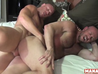 MANALIZED Lad Saxon West Swaps Head Before Drilling Dad