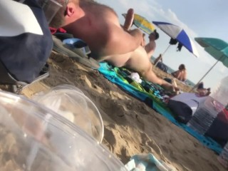 Growing a giant boner at the beach